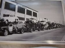 1946 FORD NEW ON TRANSPORT TRUCKS  BIG  12 X 18 PHOTO PICTURE