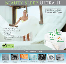 "Bed Bug Mattress Cover/Protector Pillowtop 20"" Deep Cotton top Waterproof King"