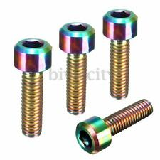 1PC Ti Titanium M6 x 20mm Hex Allen Tapered Head Cap Bolt Screw Rainbow Colorful