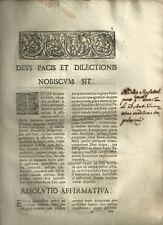 Firenze 1710 Diniego dei Signori Cavalieri al Matrimonio Morganatico
