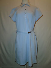 Callaway Golf Women's Light Blue  Polo Sport Shirt Dress with Belt Size Large