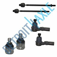 NEW 6 pc Kit - 2 LH RH Front Lower Ball Joint + 2 Inner and 2 Outer Tie Rod End