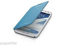 NUEVO Original OEM Samsung Galaxy Note 2 De protección Funda Con Tapa Azul Claro