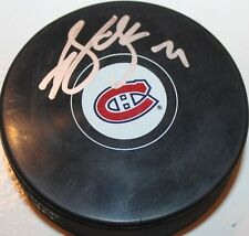 Brian Gionta signed Canadiens Hockey Puck COA