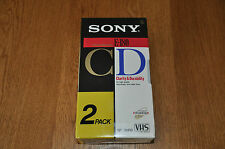 2 X Sony E180 Blank VHS video cassettes 3 hour Sony CD Brand