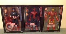 Marvel Legends Series Civil War 12-inch Captain America Iron Man & Spider-Man!