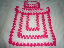 DOLLS BUGGY PRAM BLANKET AND MATCHING PILLOW
