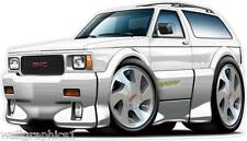 1992-1993 GMC Typhoon AWD White Truck Turbo Vintage Wall Graphic Decal Stickers