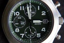Seiko Quartz 7T62 Cronógrafo Fecha Reloj Alarma Reloj Montre Orologio Reloj