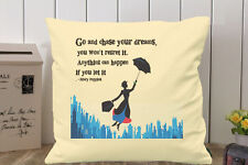 MARY POPPINS  CUSHION COVER CANVAS WITH INSERT Gift MUM VINTAGE