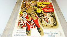 LE SERMENT DE ROBIN DES BOIS ! peter cushing  affiche cinema 1960