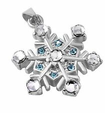 Stainless Steel Snowflake Cremation Pendant Urn Jewelry Holds Pet Ashes Human CB