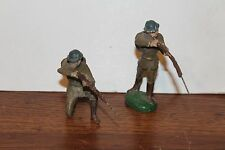 TWO VINTAGE COMPOSITION TYPE MATERIAL WORLD WAR 1 TYPE SOLDIERS marked GERMANY