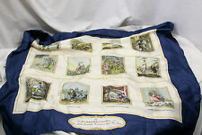 Burberry Scarf Diary Months Illustrated Multi-Color Pictorial 34 x 34 SILK