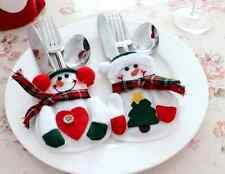 Christmas Xmas Tableware Silverware Dinner Party Decoration Cutlery Holder 8pcs