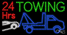 "NEW ""24 HRS TOWING"" 32x17 w/LOGO SOLID/ANIMATED LED SIGN w/CUSTOM OPTIONS 21802"