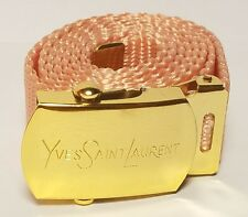 YSL Yves Saint Laurent Peach Gold Adjustable Belt Vtg LUXURY Designer Authentic