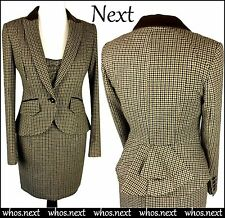 t2 NEXT size 14 Tweed Dress Suit Bustle Riding Jacket 30s 40s Wool US 10 Hacking