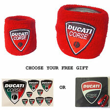 DUCATI RESERVOIR COVERS WITH FREE GIFT SOCK WRISTBAND 999 848 1098 959 1099 1299
