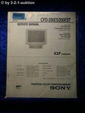 Sony Service Manual CPD 200ES /200EST Computer Display (#6045)