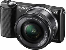 Sony Alpha a5000 20.1 MP Digital SLR Camera-Black (Kit w/ E PZ OSS 16-50mm Lens)