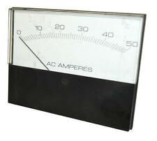 NPE PD14 AC AMPERES ANALOG PANEL METER 0-50 VOLTS