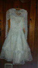 LADIES VINTAGE  RETRO ? WEDDING/BRIDESMAID DRESS LACY 30 CHEST