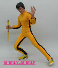 "1/6 Bruce Lee Game of Death Yellow Suit For Hot Toy 12"" Figure SHIP FROM USA"