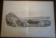 GREECE STACKELBERG 1830 PELOPONNESE HUGE ENGRAVING ARGOLIDA ARGOS MYCENAE MYCENE