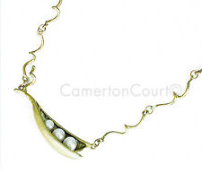 "Triple Pea Pod  Twig 16"" Adj. Necklace by Michael Michaud, Silver Seasons"