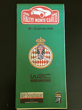 CARTE MAP RALLYE MONTE CARLO 2006 LOEB BOUTIQUE OFFICIELLE DONNEES IGN FIA WORLD