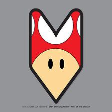 2366 - Shoshinsha / Wakaba Leaf Mario Mushroom JDM vinyl decal sticker 160x91mm