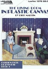 Fashion Doll Living Room Plastic Canvas Cross Stitch Chart Pattern  Dick Martin
