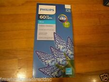 New ! 60ct Philips LED Faceted C6 Lights Blue Green Wire indoor Outdoor