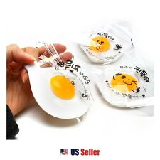Fried Egg Sunny Side up Jelly Toy Soft Squeeze Squishy Jelly Toy Set of 2
