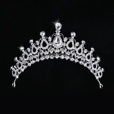 Wedding Bridal Bridesmaid Prom Party Waterdrop Crystal Rhinestone Tiara Crown