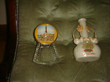 vintage antique souveniers blackpool bird vase and paperweight ashtay trinket