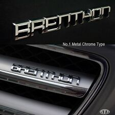 BRENTHON Mini Emblem Decal Car Sticker CHROME Emblem for All Cars