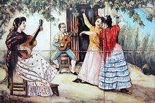 AZULEJOS PINTADOS A MANO de CERÁMICA 30x45cm * Costumbres Españolas Andalucía
