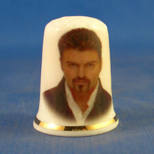 Birchcroft China Thimble -- George Michael  with Free Dome Gift Box