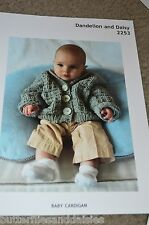 Plymouth Knitting Pattern 2253 Yarn Baby Cardigan