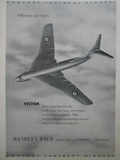 1/1955 PUB HANDLEY PAGE VICTOR RAF ROYAL AIR FORCE V BOMBER ORIGINAL AD