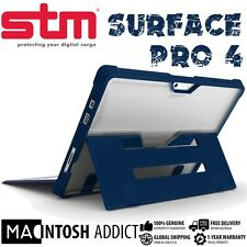 STM Dux Clear TPU Rugged Cover Case For Microsoft Surface Pro 4 BLUE | Mil Std