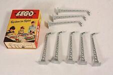 Lego 233, Bausteine, 8 x Straßenlampen, Top im Originalkarton             #ab548