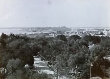 Panorama of Unknown City, Possibly in Italy, Magic Lantern Glass Photo Slide