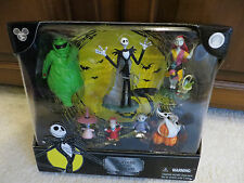 "DISNEY TIM BURTON'S ""THE NIGHTMARE BEFORE CHRISTMAS "" 7 COLLECTIBLE FIGURES NIB"