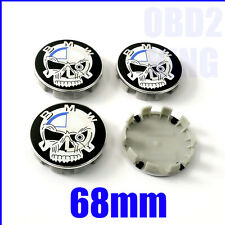 4 PCS BMW SKULL 68mm Wheel Center Cover Emblem Sign Logo Hub Cap Set