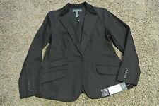 RALPH LAUREN Sexy MANHATTAN Black Denim Jacket Blazer L  NWT$159 Velvet Collar!