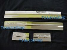 4DOOR STAINLESS STEEL SCUFF PLATE SILL FOR NEW TOYOTA VIOS SEDAN 4 DOOR 2013-15