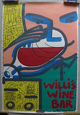 François Boisrond - Lithographie Willi's Wine Bar Paris - 1985 -